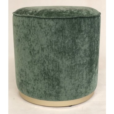 Scully Fabric Stool Bench Seat Ottoman Foot Rest Chair Pouf Green 43x41cm