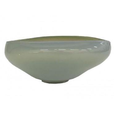 Brady Bowl Decorative Food Platter Holder Glass Green White 32x12cm