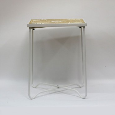 Single Side Table Metal Timber Lamp Unit Nightstand 40x52cm