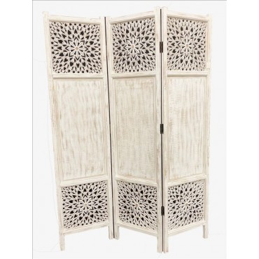 Swan Room Divider Timber Timber 3 Panel Screen Folding Stand Alone 43x180cm