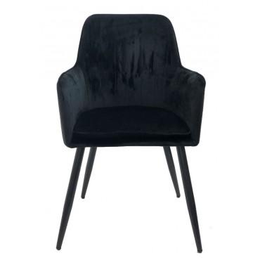 Bulk 2 Ascot Fabric Chair Seat Sofa Lounge Tub Provincial Metal Black 56x86cm