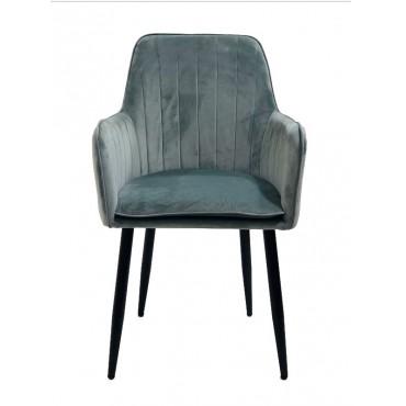 Bulk 2 Ascot Fabric Chair Seat Sofa Lounge Tub Provincial Metal Grey 56x86cm