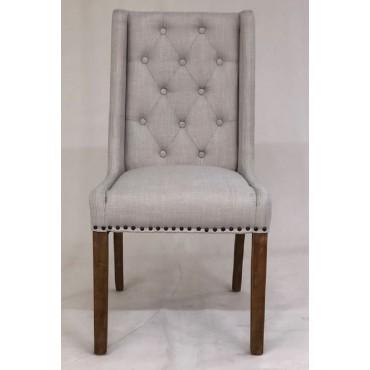 Bulk 2 Maria Dining Fabric Chair Seat Sofa Lounge Tub Provincial Beige 58x103cm