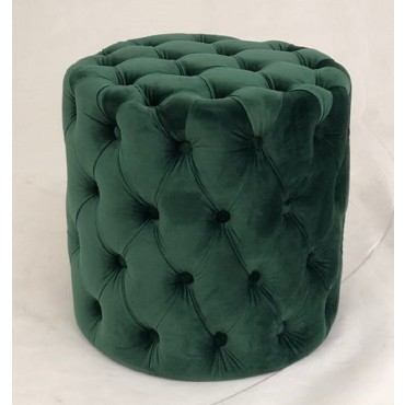 Romeo Fabric Stool Bench Seat Ottoman Foot Rest Chair Pouf Green 44x46cm