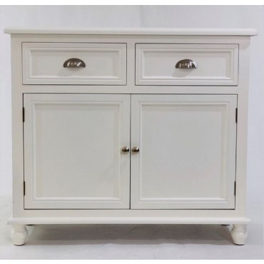 Hannah Sideboard W/ Drawers Buffet Storage Cupboard Timber White 89x79cm