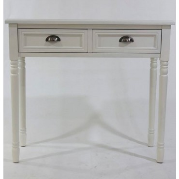 Hannah Console Table Hallway Hall Entry Side Unit Timber White 89x78cm