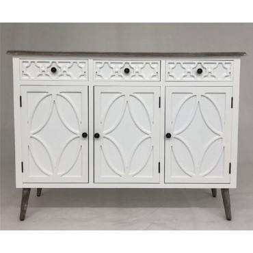 Sandy Sideboard Buffet Storage Cupboard Timber White 121x90cm