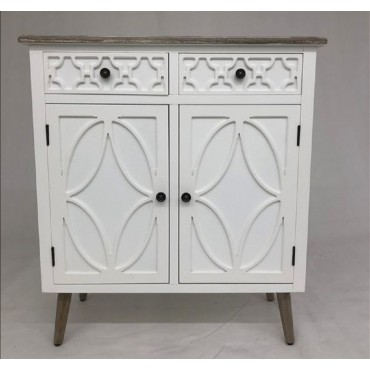 Sandy Cabinet Buffet Storage Cupboard Timber White 80x90cm