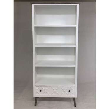 Sandy Bookshelf Shelve Rack Bookshelf Storage Timber White 78x183cm