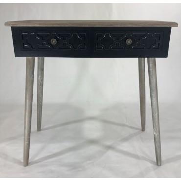 Sandy Console Table Hallway Hall Unit Timber Black 80x81cm