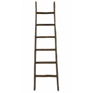 Ada Decorative Display Ladder Timber Bathroom Towel Storage Rack Shelf 44x180cm