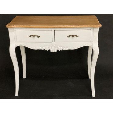 Phillip Desk Console Table Timber Hallway Hall Unit Entry Side White 89x79cm