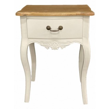 Phillip Bedside Table Timber Lamp Bed Side Unit Nightstand White 47x63cm