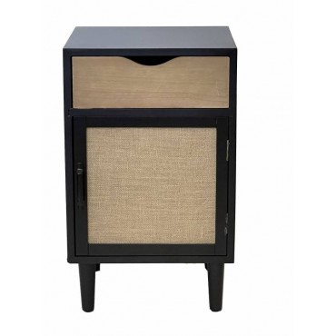 Lesley Bedside Table Lamp Bed Side Unit Nightstand Timber 40x66cm