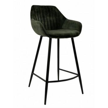 Bulk 2 September Fabric Stool Seat Sofa Lounge Provincial Velvet Green 47x95cm