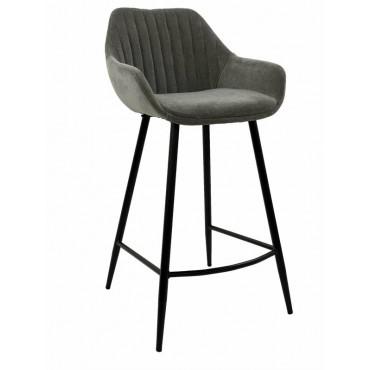 Bulk 2 September Fabric Stool Seat Sofa Lounge Provincial Velvet Grey 47x95cm