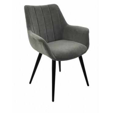 Bulk 2 September Fabric Chair Seat Sofa Lounge Provincial Velvet Grey 65x85cm