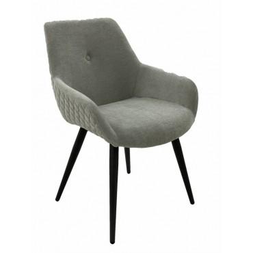 Bulk 2 March Fabric Chair Seat Sofa Lounge Provincial Velvet Grey 59x86cm