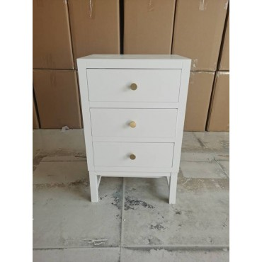 Steven Bedside Table Lamp Bed Side Unit Nightstand Timber White 30x65cm