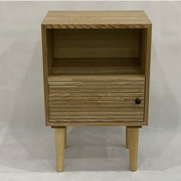 Kay Bedside Table Lamp Bed Side Unit Nightstand Timber Natural 40x62cm