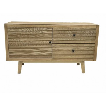 Kay Tv Cabinet Stand Buffet Storage Cupboard Timber Natural 100x65cm