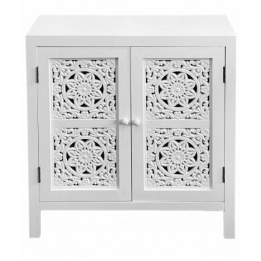 Willow Sideboard Buffet Storage Cupboard Timber White 69x72cm