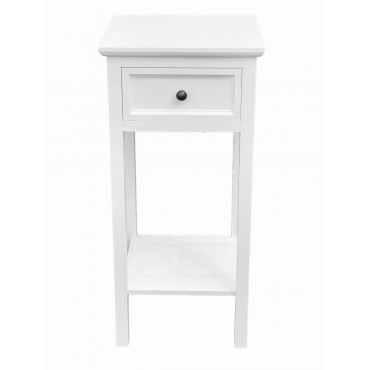 Lewis Bedside Table Lamp Bed Side Unit Nightstand Timber White 35x75cm