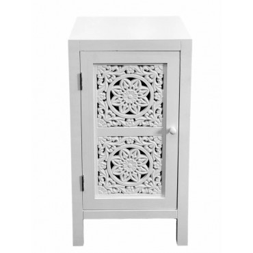 Willow Bedside Table Lamp Bed Side Unit Nightstand Timber White 38x72cm