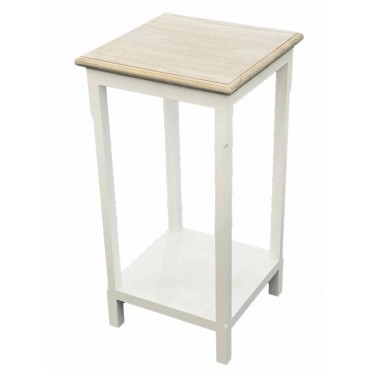 Prati Side Table Lamp Bed Side Unit Nightstand Timber White 41x79cm