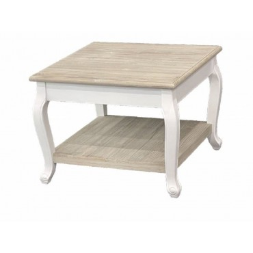 Prati Tea Table Lamp Unit Nightstand Timber Natural White 60x50cm