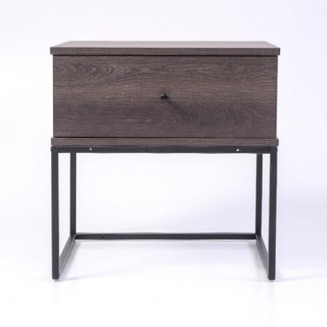 Morena Bedside Table Lamp Bed Side Unit Nightstand Antico Wenge 50x50cm