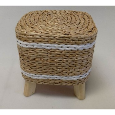 Bulk 4 Rush Stool Seat Chair Outdoor Garden Rattan Brown 29cm