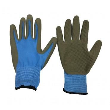 bulk 24 Garden Gloves Latex Palm Dipped 3 Size S/M/L Assort Heavy Duty Latex