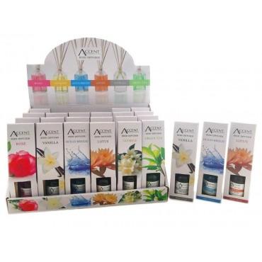 bulk 72 30Ml Mini Reed Diffuser 6 Assort Fragrance Aromatherapy Aroma
