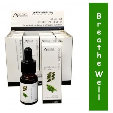 Bulk 12 Aroma Oil Breath Well 10Ml Fragrance Diffuser Air Humidifier Mint