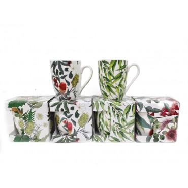 bulk 24 Australian Flora New Bone China 305Ml Mug 4 Assort Drinking Tea Cup
