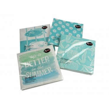 bulk 960 Summer Coastal Design Napkin 2Ply 4 Design Party 33x1cm