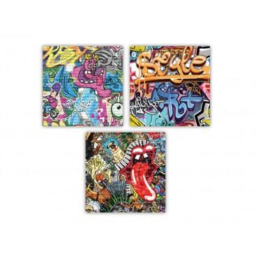 bulk 48 Graffitipkin 2Ply 3 Assort Party Dinner Desert Paper 33x1cm