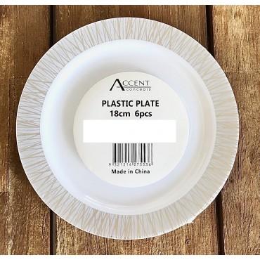 bulk 144 Disposable Plastic Side Plate Party Dinner Desert Plastic White 18x2cm