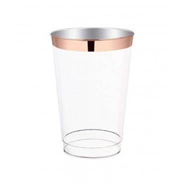 bulk 144 Disposable Plastic Cup 295Ml Party Dinner Desert Plastic Clear