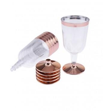 bulk 144 Disposable Plastic Wine Glass 147Ml Party Dinner Desert Plastic Clear