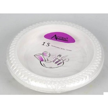 bulk 360 Disposable Side Plate  Party Dinner Desert Plastic White 15x2cm