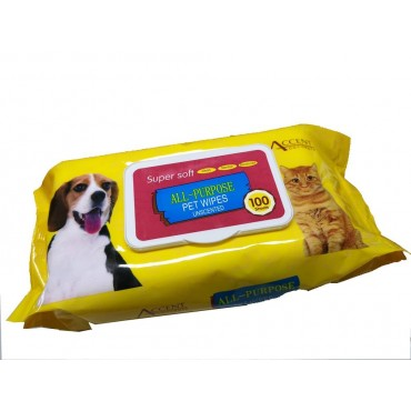 bulk 24 Super Soft Unscented Pet Wipes 100 Sheets Dog Cat