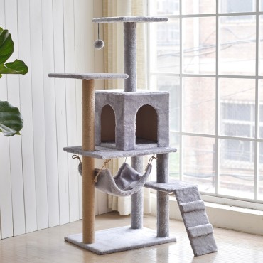 Cat Tree Scratching Post Scratching Post Sisal Pole Condo Toy 50x127cm
