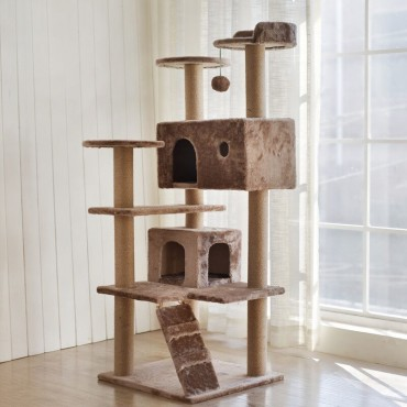 Cat Tree Scratching Post Scratching Post Sisal Pole Condo Toy 50x141cm