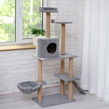 Cat Tree Scratching Post Scratching Post Sisal Pole Condo Toy 60x150cm