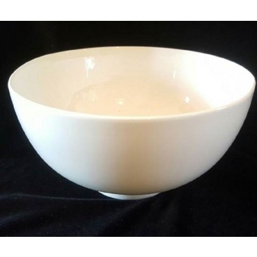 Bulk 24 Deep Round Bowl Soup Serving Rice Dinner Fine Bone China White 18x8cm