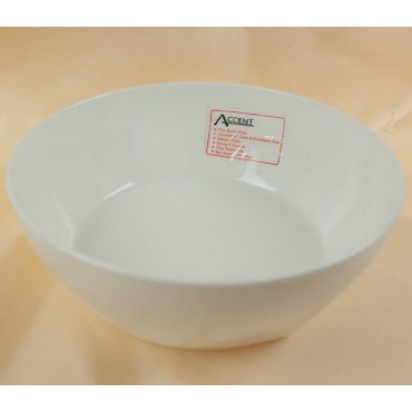 Bulk 24 Round Bowl Soup Serving Rice Dinner Fine Bone China White 18x6cm