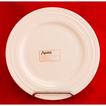 Bulk 24 Ribbed Embossed Round Side Plate Serving Fine Bone China White 22x3cm