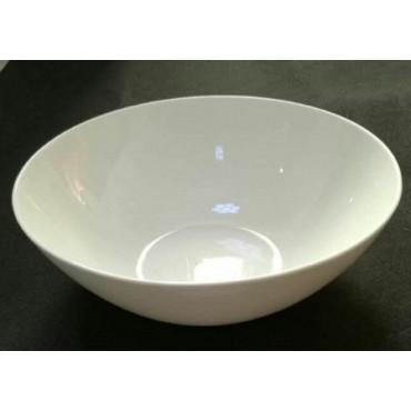 bulk 12 Large Bone China Round Bowl Soup Serving Rice Dinner White 22x6cm